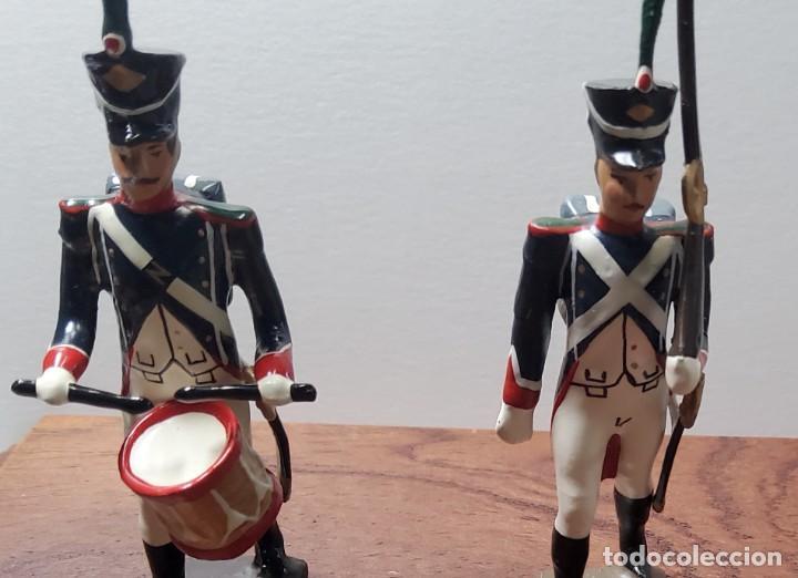 Juguetes Antiguos: 2 SOLDADOS DE PLOMO PRIMER IMPERIO FRANCES.FABRICADO POR CBG MIGNOT EN FRANCIA ENTRE 1870 Y 1920 - Foto 2 - 262031985