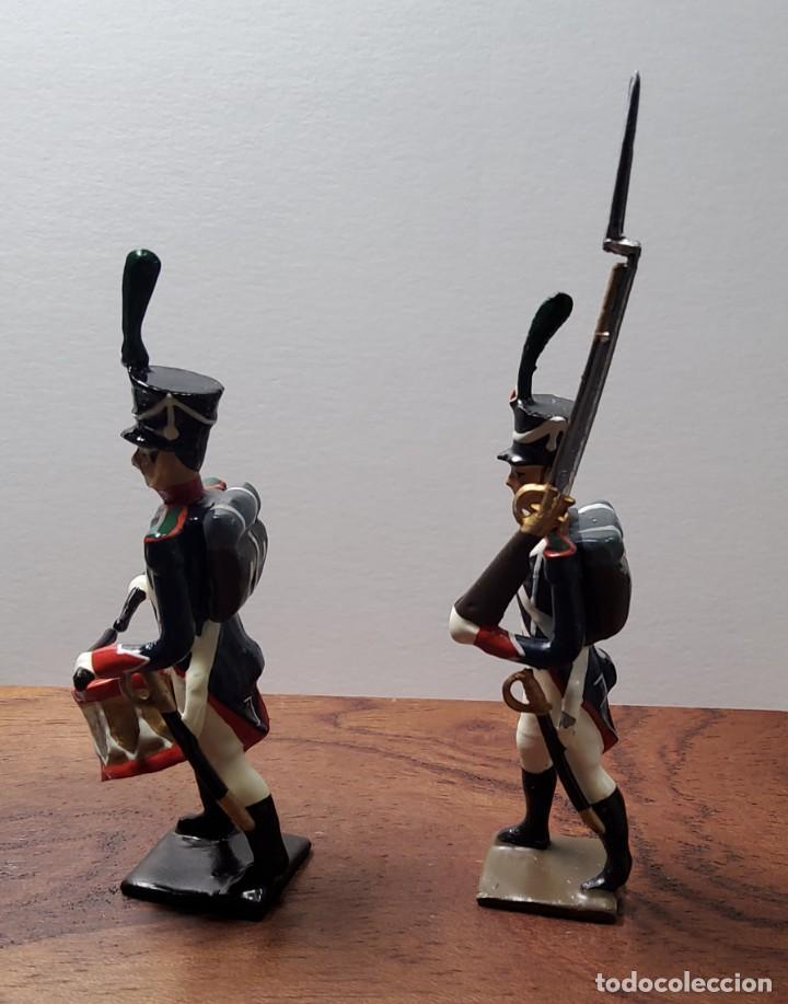 Juguetes Antiguos: 2 SOLDADOS DE PLOMO PRIMER IMPERIO FRANCES.FABRICADO POR CBG MIGNOT EN FRANCIA ENTRE 1870 Y 1920 - Foto 3 - 262031985