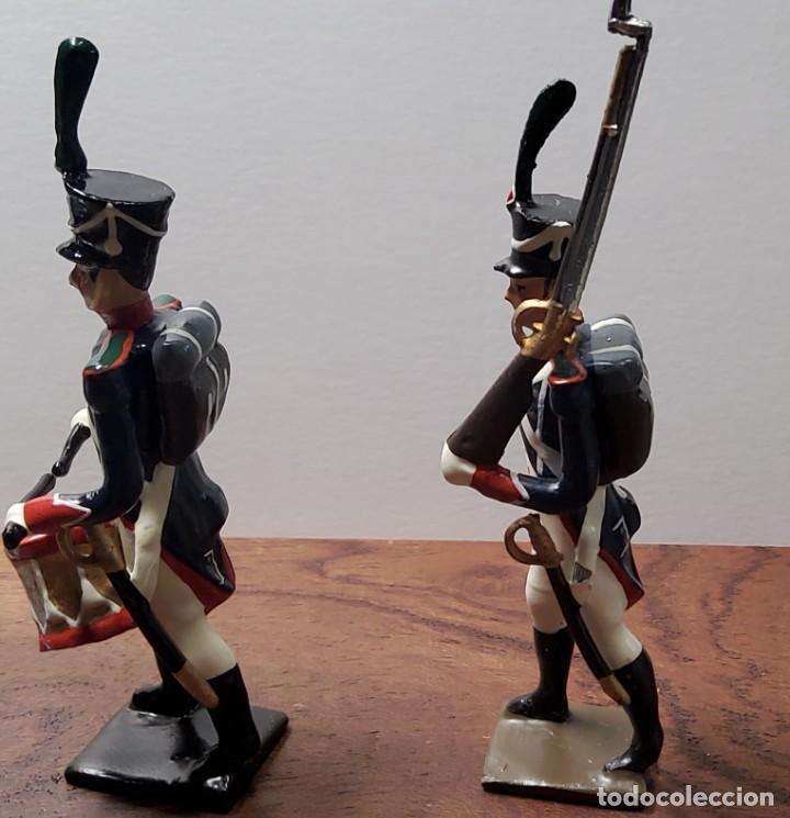 Juguetes Antiguos: 2 SOLDADOS DE PLOMO PRIMER IMPERIO FRANCES.FABRICADO POR CBG MIGNOT EN FRANCIA ENTRE 1870 Y 1920 - Foto 4 - 262031985