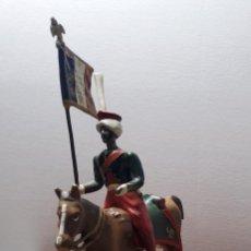 Juguetes Antiguos: SOLDADO DE PLOMO A CABALLO FRANCES ESCALA 54 MM.FABRICADO POR MIGNOT EN FRANCIA ENTRE 1870 Y 1920. Lote 262112495