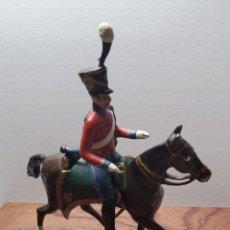 Juguetes Antiguos: SOLDADO DE PLOMO A CABALLO FRANCES ESCALA 54 MM.FABRICADO POR MIGNOT EN FRANCIA ENTRE 1870 Y 1920. Lote 262116950