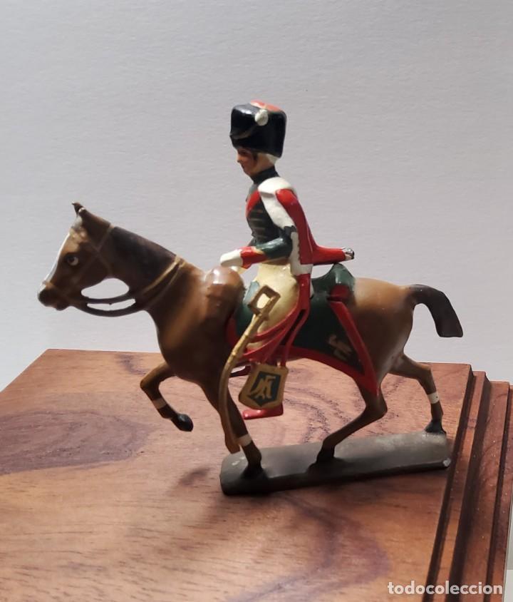 Juguetes Antiguos: SOLDADO DE PLOMO A CABALLO FRANCES escala 54 mm.FABRICADO POR MIGNOT EN FRANCIA ENTRE 1870 Y 1920 - Foto 2 - 262118060