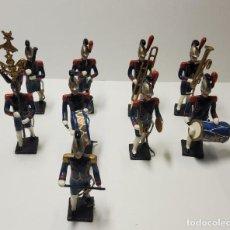 Juguetes Antiguos: 9 SOLDADOS DE PLOMO.BANDA MUSICA 1º IMPERIO FRANCES.HECHOS POR MIGNOT EN FRANCIA ENTRE 1870 Y 1920 Y. Lote 262198630