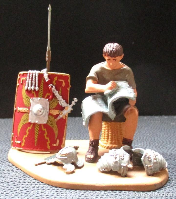 MINIATURAS ANDREA - PLANETA -PLOMO- -SOLDADO ROMANO EN CAMPAMENTO- ESCALA 1:32 (4 FOTOS) (Juguetes - Soldaditos - Soldaditos de plomo)