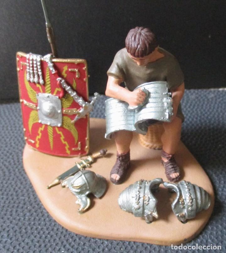 Juguetes Antiguos: MINIATURAS ANDREA - PLANETA -PLOMO- -SOLDADO ROMANO EN CAMPAMENTO- ESCALA 1:32 (4 Fotos) - Foto 4 - 265375834