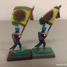 Juguetes Antiguos: SOLDADITOS DE PLOMO ABANDERADOS ANTIGUOS.MEDIDAS ;4, 5 CM. Lote 269403823