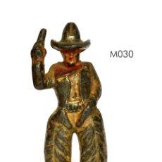 Juguetes Antiguos: COWBOY DE PLOMO HUECO, MARCA MANOIL, NO BARCLAY, NO BRITAINS, CIRCA 1930, Nº M030. Lote 270523738