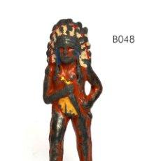 Juguetes Antiguos: JEFE INDIO, DE PLOMO HUECO, MARCA BARCLAY, NO BRITAINS, CIRCA 1930, Nº B048. Lote 270524248