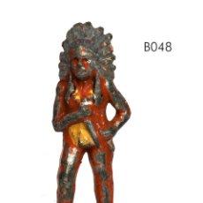 Juguetes Antiguos: JEFE INDIO, DE PLOMO HUECO, MARCA BARCLAY, NO BRITAINS, CIRCA 1930, Nº B048. Lote 270524333