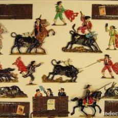 Juguetes Antiguos: IMPRESIONANTES ESCENARIOS DE TAUROMAQUIA , FIGURAS ARTESANALMENTE ESCULPIDAS EN PLOMOALEACIÓN. Lote 273414138