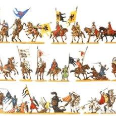 Juguetes Antiguos: IMPRESIONANTE CONJUNTO DE CABALLEROS EN LUCHA , FIGURAS EN PLOMO,, PLOMOALEACIÓN. Lote 273423113