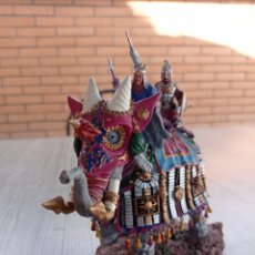 Juguetes Antiguos: FROM SPAIN MONGOL WAR ELEPHANT 54MM PINTADO A MANO CON CALIDAD. Lote 278885828