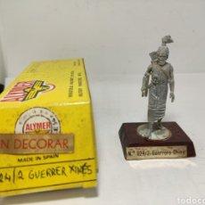 Juguetes Antiguos: ALYMER GUERRERO CHINO N° 024/2 SOLDADO PLOMO E. 54 MM. Lote 278919048