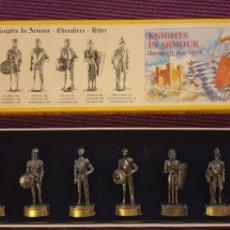 Juguetes Antiguos: SOLDADOS DE PLOMO CABALLEROS MEDIEVALES.. Lote 288223288