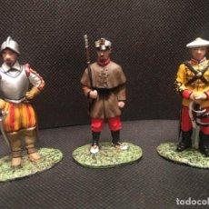 Giochi Antichi: LOTE DE 3 SOLDADITOS DE PLOMO. MIDEN 6 CM. Lote 288745658