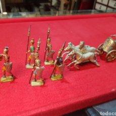 Juguetes Antiguos: LOTE DE MUY ANTIGUOS SOLDADOS DE PLOMO ROMANOS CON DEFECTOS. Lote 295034623