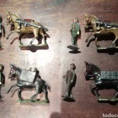 Juguetes Antiguos: SOLDADOS DE PLOMO. EULOGIO 45 MM GRUPO AMETRALLADORAS. Lote 295528663
