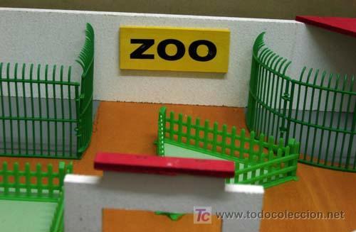 Juguetes Antiguos: Zoológico zoo de madera y plástico Denia sin animales años 50 - Foto 4 - 11082080