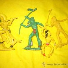 Juguetes Antiguos: TRES INDIOS Y UN VAQUERO. Lote 18357364