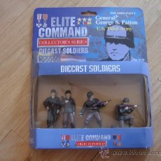 Juguetes Antiguos: BLUE BOX 34145 ELITE COMMAND COLLECTOR´S SERIES DIECAST SOLDIERS: PATTON - 54 MM MINIATURA. Lote 27303003