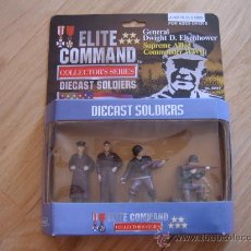 Juguetes Antiguos: BLUE BOX 34161 ELITE COMMAND COLLECTOR´S SERIES DIECAST SOLDIERS: EISENHOWER - 54MM MINIATURA. Lote 27303010