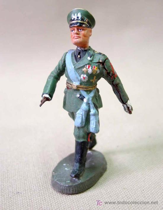 MEGA RARA FIGURA DE MASA MUSSOLINI BRAZO MOVIL ELASTOLIN NO LINEOL 1930S WW2 (Juguetes - Soldaditos - Otros soldaditos)