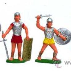 Juguetes Antiguos: 6 SOLDADOS GRIEGOS DE CHARBENS EN PLÁSTICO AÑOS 60. Lote 14673777