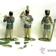 Juguetes Antiguos: 7 NAPOLEONICOS BANDA DE MUSICA PLÁSTICO AÑOS 60. Lote 17319650