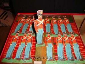 Juguetes Antiguos: Set Soldados Vintage Años 50. Juego De Guerra .Juguete .Caja Original. - Foto 3 - 26811326