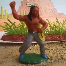 Juguetes Antiguos: INDIO DE GOMA DESCONOZCO MARCA. Lote 28220943