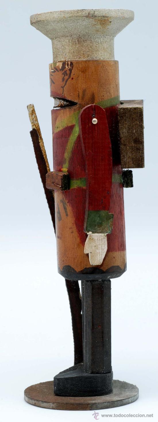 Juguetes Antiguos: Soldado con fusil madera posiblemente Denia publicidad tacos Rawlplugs años 30 con folleto - Foto 3 - 53081214