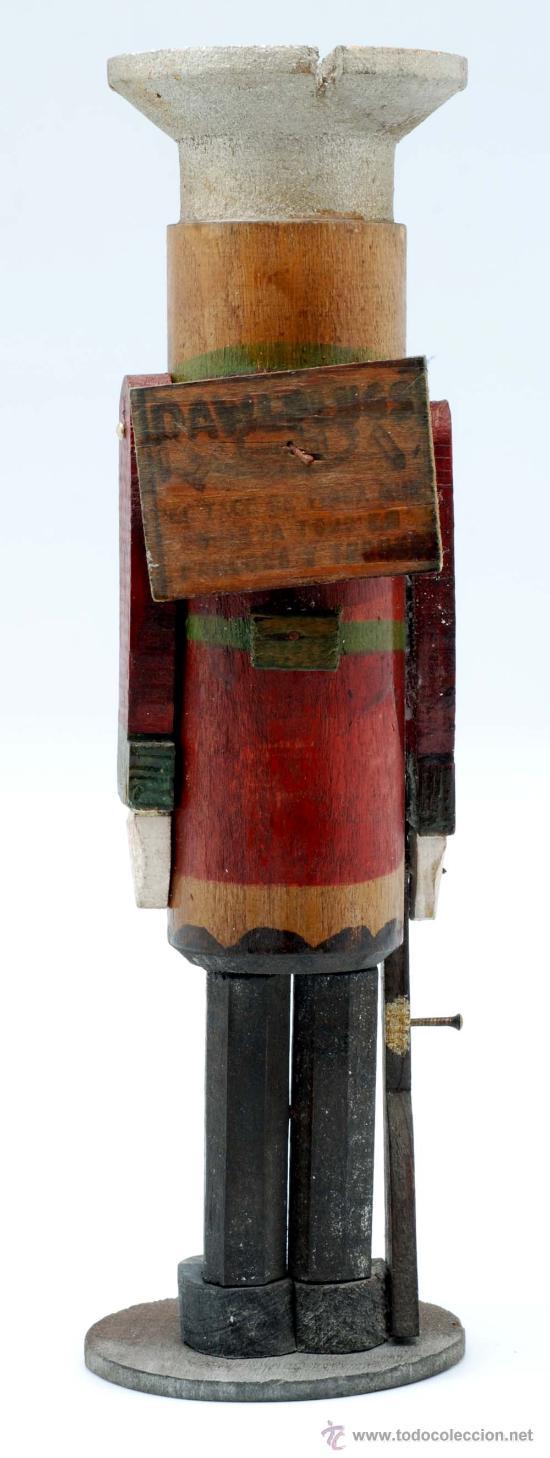 Juguetes Antiguos: Soldado con fusil madera posiblemente Denia publicidad tacos Rawlplugs años 30 con folleto - Foto 4 - 53081214