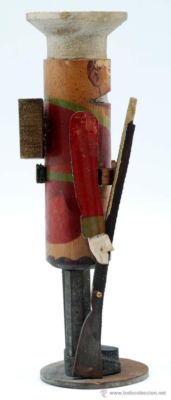 Juguetes Antiguos: Soldado con fusil madera posiblemente Denia publicidad tacos Rawlplugs años 30 con folleto - Foto 5 - 53081214