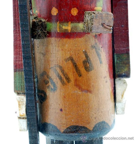 Juguetes Antiguos: Soldado con fusil madera posiblemente Denia publicidad tacos Rawlplugs años 30 con folleto - Foto 7 - 53081214