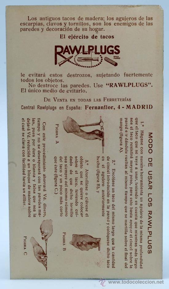 Juguetes Antiguos: Soldado con fusil madera posiblemente Denia publicidad tacos Rawlplugs años 30 con folleto - Foto 10 - 53081214