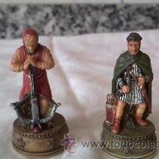 Juguetes Antiguos: LOTE DE 2 FIGURAS DE SOLDADOS MEDIEVALES EN RESINA.MARCA W. U. I 2001. Lote 36006094