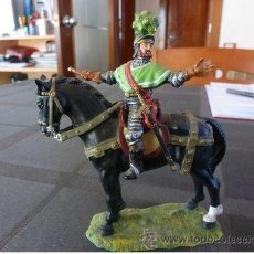 Juguetes Antiguos: ELASTOLIN / LINEOL CABALLERO CONQUISTADOR-70MM.. Lote 37272528