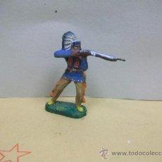 Juguetes Antiguos: FIGURA INDIO ELASTOLIN PASTA - INDIO DE ELASTOLIN COMPOSICION MASSE - SERIE 7 CM.. Lote 37849512