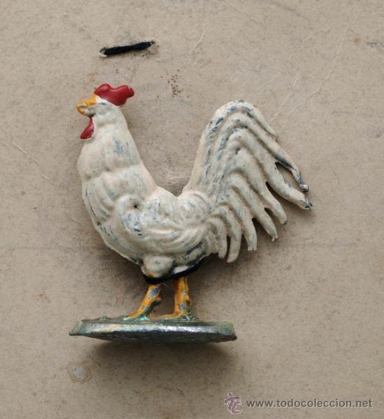 Juguetes Antiguos: Blister cartón figuras plomo granja semiplanas años 40 animales y granjera - Foto 4 - 39203698