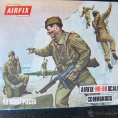 Juguetes Antiguos: AIRFIX CAJA COMANDOS ESCALA H0-00 AÑO 1973. Lote 40721603