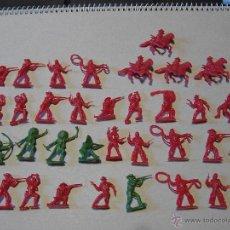 Juguetes Antiguos: MARX ORIGINAL 2,5 CM 35 INDIOS VAQUEROS IDEAL MINI-OESTE COMANSI NOVOLÍNEA OESTE 1/72 AÑO 70. PTOY. Lote 41390734
