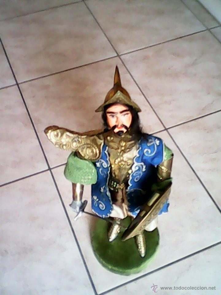 Juguetes Antiguos: SOLDADO PUPI MONGOL ORIGINAL EL CUERPO DE MADERA LA CABEZA DE TERRA COTA LA ROPA DE HOJALATA - Foto 4 - 41560406