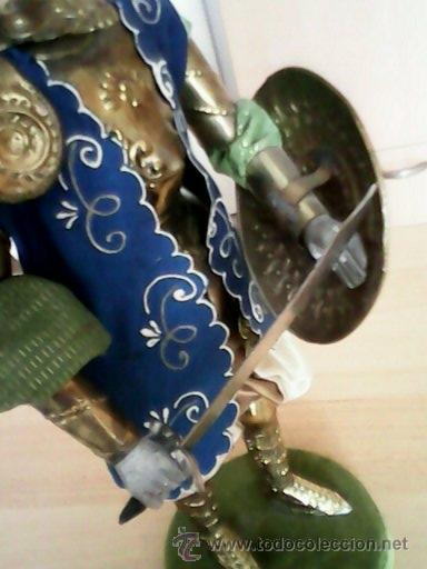 Juguetes Antiguos: SOLDADO PUPI MONGOL ORIGINAL EL CUERPO DE MADERA LA CABEZA DE TERRA COTA LA ROPA DE HOJALATA - Foto 6 - 41560406