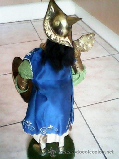 Juguetes Antiguos: SOLDADO PUPI MONGOL ORIGINAL EL CUERPO DE MADERA LA CABEZA DE TERRA COTA LA ROPA DE HOJALATA - Foto 10 - 41560406