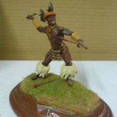 Juguetes Antiguos: SOLDADO DE PLOMO EXCELENTE GUERRERO AFRICANO. Lote 42815382