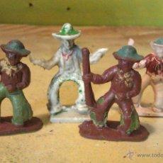 Juguetes Antiguos: FIGURAS DE CAPELL Y LAFREDO EN GOMA--COWBOYS. Lote 54640238