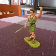 Juguetes Antiguos: ELASTOLIN LINEOL - GUERRERO IBERO, ¿ESCLAVO DE ROMA?-(65/70MM)-FOTOS. Lote 45861298