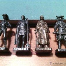 Juguetes Antiguos: LOTE DE 4 SOLDADITOS - SCAME - PAT GARRETT , ROMAN 2 , SAMURAI 1 Y 2 - HUEVOS KINDER. Lote 93052242