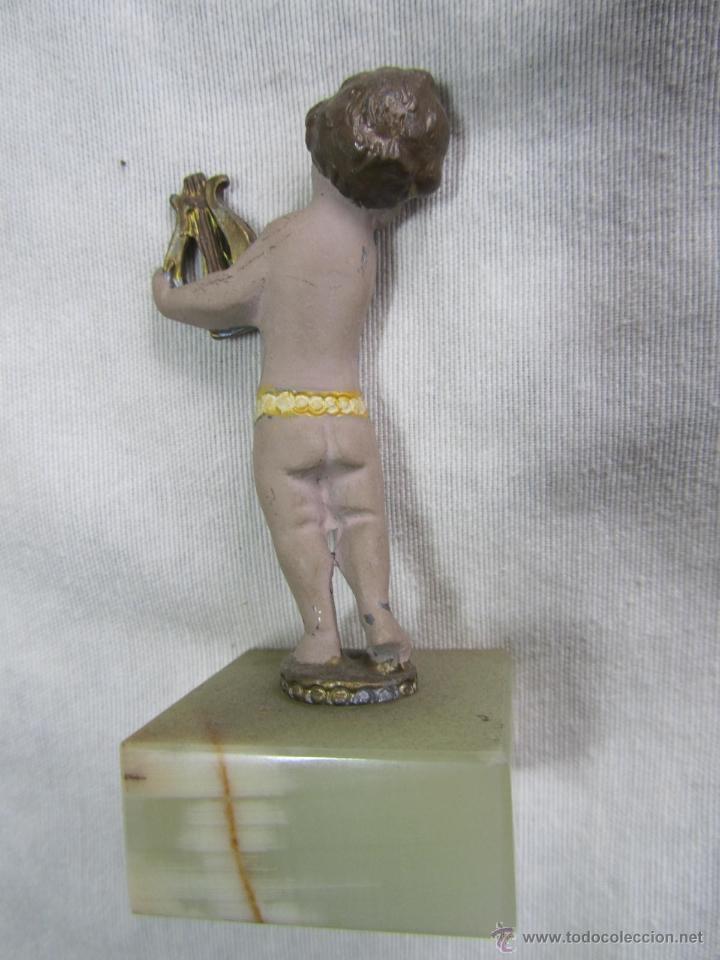 Juguetes Antiguos: 7 figuras de niños músicos de plomo - Foto 8 - 48921083