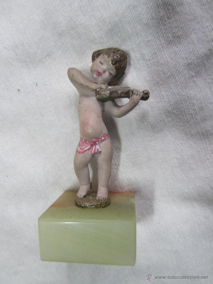 Juguetes Antiguos: 7 figuras de niños músicos de plomo - Foto 9 - 48921083
